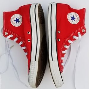 Men's Red Converse Chuck Taylor High Tops